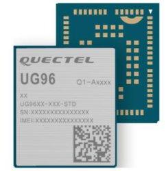 UMTS/HSPA Ug96 ist eine Penta-Band UMTS/HSPA Baugruppe, die eine maximale Datenrate von Downlink 7.2Mbps und von Uplink 5.76Mbps anbietet