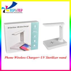 2 in 1 lampada germicida del telefono del caricatore dello sterilizzatore UV ultravioletto senza fili portatile multifunzionale della stanza per disinfezione domestica