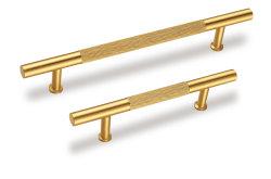 i tiri del cassetto dell'oro di 220mm 192mm 148mm hanno spazzolato le maniglie d'ottone