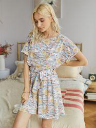 夏の女性の衣服のカムフラージュの不足分の袖のジャンプスーツの偶然のパジャマ