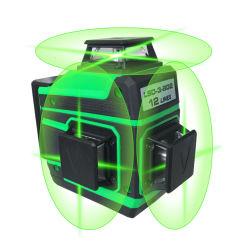 3D 360 12ラインはBosch自動レーザーのレベルのメートルを水平にしているマルチ十字の自己を緑化する
