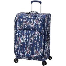 С возможностью расширения Softside поездки багаж вращателя ВМС белого цвета с цветочным рисунком печать чемодан