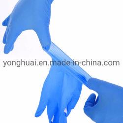 Libre de polvo de textura cómodo desechable Dedos de la seguridad alimentaria seguridad Limpieza recubierto de nitrilo Guantes de trabajo