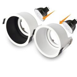 إطار GU10 لضوء LED لأسفل لـ GU10 LED GU10 LED إطار GU10 ذو الإضاءة السفلية لسقف GU10 LED على شكل مصباح على شكل LED على شكل مصباح على شكل حرف GU10 Lights Frame (إطار المصابيح) لـ GU10 Frame Downlight LED الخاص بـ GU10