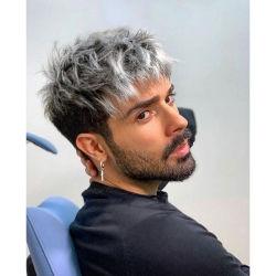 [كبث] شعر إنسانيّة مستعجّة جمليّة نوعية فرنسيّة [ليس] [توربي] عذراء أومبر مخصص الرجال الشعر قطع سيليكون PU توبيه قصيرة مستقيمة ويغز