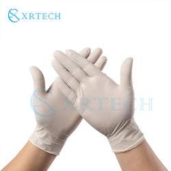 Exame descartáveis Mão Livre de Pó Químico de trabalho de segurança Luvas de nitrilo de cor branca