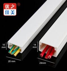 工場卸し売り白PVCケーブル管理袖ワイヤー正方形の導通