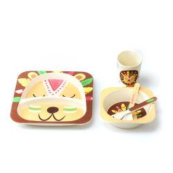 아이를 위한 주문을 받아서 만들어진 디자인 BPA 자유롭게 대나무 섬유 저녁식사 세트, 귀여운 판지 디자인, 큰 접시