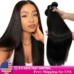 Commerce de gros bon marché Remy Hair Bundles cuticule alignés 100 % Pure vierge non transformés de l'armure des extensions de cheveux humains brésilien naturel