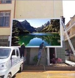 Piscina P4 Instalação fixa de publicidade digital Visor LED