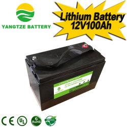 Круиз по реке Янцзы длительного цикла 12V100ah электромобиль используется литиевая батарея