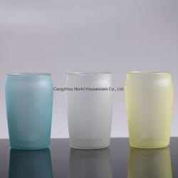 Macron Farben-Borosilicat-Glas-doppel-wandige Cup mit Saft-Eis-Sand