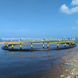 2021 새로운 HDPE Round Floating Fish Cage Fish G농 케이지 틸라피아 생선과 브라켓을 사육하는 양식장 케이지