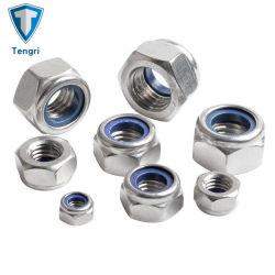 DIN985 en acier allié de grade 10 Plaqué zinc haute résistance les écrous de blocage en Nylon hexagonal