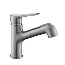 حوض استحمام رماديّ مسدس فاخر وبساطة صنبور الحمام صنبور