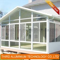 Alliage d'aluminium salle de remise en verre trempé de verre jardin européen Sunshine Profil de la salle actionnées à la main lucarne électrique
