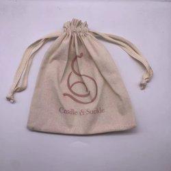 El logo impreso personalizado Don Algodón lienzo bolso de cadena doble cordón de polvo de la zapata de bolsa