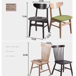 Mobiliário de madeira, mesa de jantar e cadeira combinação de madeira maciça de capota criativa moderna Nórdica simples Família Longa Cafe Cadeira de jantar