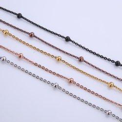 316L ожерелье из нержавеющей стали плоский кабель цепи с шаровым шарниром