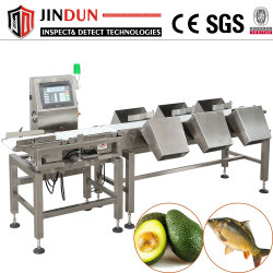 Cinta transportadora automática balanza máquina de clasificación de peso para mariscos