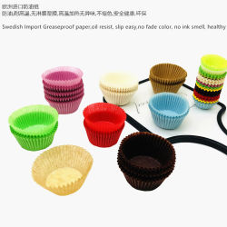 Party Favor Bakery Use Disposable Food Grade Heat Proof Souffle Geplooide lichtbruine cupcake muffin Paper Baking Cup