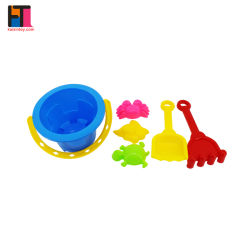 Stuk speelgoed van de Emmer van het Strand van de Jonge geitjes van het Zand van het Spel van het Speelgoed van het Strand van de zomer 6PCS het Plastic