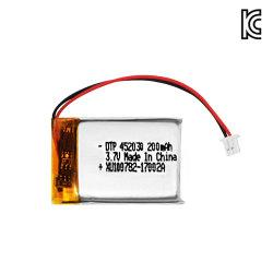 3.7V 200mAh Uhrmobile Li-Plastik-Batterie mit Drähten