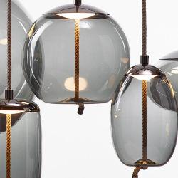 현대 전등 설비 대중음식점 거는 천장 철 유리제 펀던트 램프 LED 샹들리에