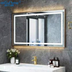 5mm 홈 욕실 장식용 벽 장착형 메탈 프레임 스마트 LED 거울