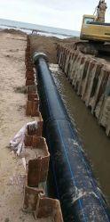 Tubo dell'HDPE 560m dell'acqua DN300 del rifornimento PE100 della fabbrica di SDR17 SDR11