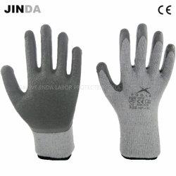 Latex-gekreukte latex-beschermende latex EN388 Constructie Mechanische Industriële Veiligheid Werkhandschoenen
