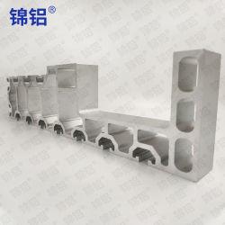 Rail Transit Big Section Rail Transport Auto Aluminium Extrusion op maat OEM