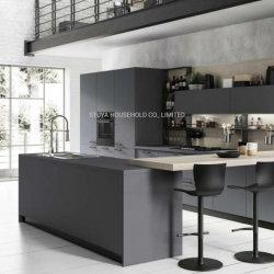 Home Design minimalista de móveis da série cinza armário de cozinha