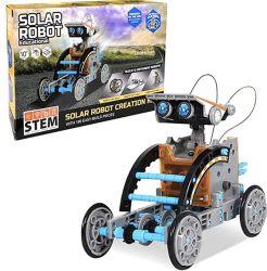 بيع ساخن لمبنى Amazon Solar Robot Toys لألعاب Sat 12 في 1 DIY التعليم العلوم مجموعة التجارب للأطفال