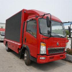 عربة إعلانية محمولة مزودة بشاشة LED من HOWO 4X2