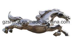 功妙なステンレス鋼の彫刻、連続した馬