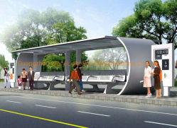 地下鉄、地下の駐車場、駅へのOEMのステンレス鋼のバス待合所のおおい