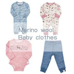 Lana Merino bambú recién nacido ropa de bebé niña niño romper los Pantalones Ropa deportiva unisex
