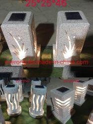 A luz solar em granito Natural/Lanterna de pedra para jardim exterior