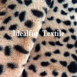 Nouveau Leopard Imprimé animal imitation de la fausse fourrure
