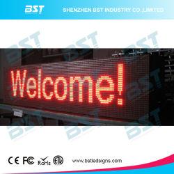 P10 rojo el color de LED de exterior Visualización de mensajes de texto en movimiento (programable)
