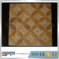 Amarelo/bege/Mel Mosaico travertino de telhas e revestimentos de parede