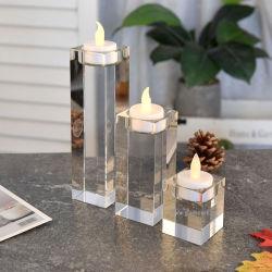 Vasi di candela in vetro colorato, portacandele in cera