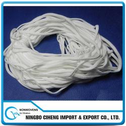 Mascarilla de la venta al por mayor de materiales Earloop estiramiento elástico correa ajustable
