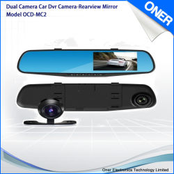 Full HD 1080P DVR наружного зеркала заднего вида с двумя Shot