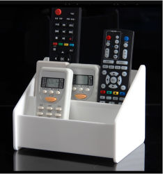 Organizador de controle remoto. Telefone e suporte fixa
