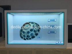 55pulgadas LCD transparentes de verificación Publicidad Smart Media Player