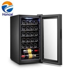 Capacité de 24 bouteilles de vin en bois du compresseur de la zone unique de l'armoire du refroidisseur