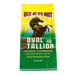 Sécurité alimentaire durable de haute qualité Grade 25kg PP sacs tissés pour le riz