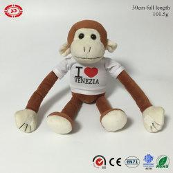 Monkey игрушка животных Cute Мягкие плюшевые игрушки PP хлопка шикарные цепочки ключей